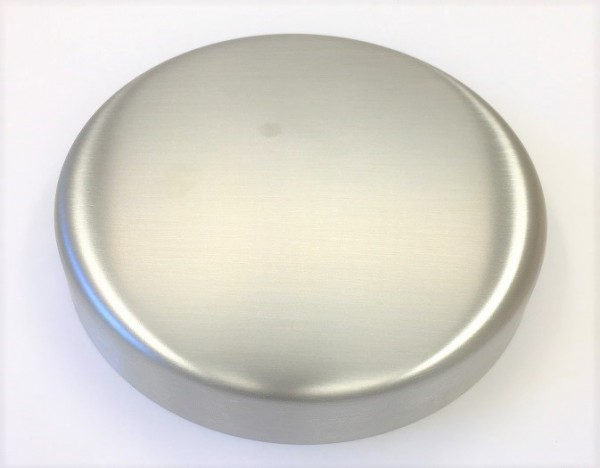 Edelstahl-Rosette Ø 125 x 1,5 mm, ungelocht, geschliffen K240