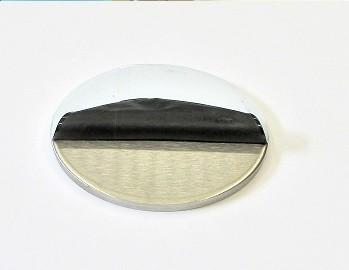 42072 - V4A Ronde Ø 70 x 6 mm, einseitig geschliffen K240 + Schutzfolie
