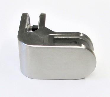 82150 -Eck-Glashalter aus Edelstahl passend zu Glashaltern 63 x 45 mm, geschliffen K240