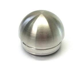 Edelstahl-Hohlkappe für Rohr Ø 42,4 x 2,0 mm, kugelförmige Ausführung