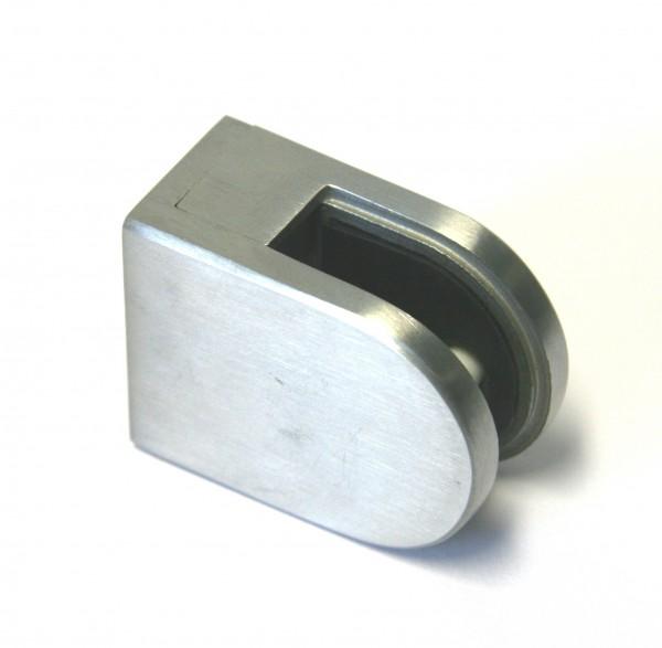 V2A Glashalter 50 x 40 x 26 mm, geschliffen K240, für flachen Anschluss