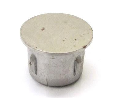 Stahl-Einschlagstopfen flexibel für Rohr Ø 42,4 x 1,8-2,2 mm, flache Ausführung