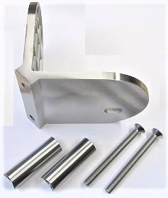 25218 - Eckwandanker aus Edelstahl (Außenecke) für Rohr Ø 42 mm und Wandabstand = 50 mm