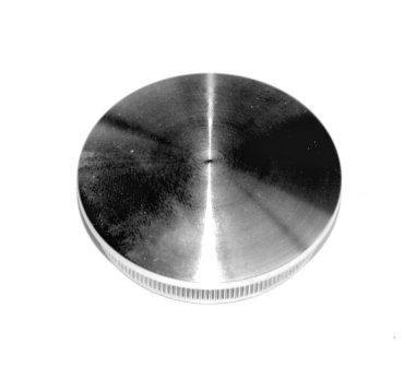Edelstahl-Einschlagstopfen massiv für Rohr Ø 42,4 x 2,6 mm, gewölbte Ausführung