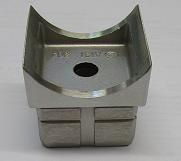 Edelstahl Rohrsattel für Rohr 40x40x2,0 mm und Anschluss Ø 42,4 mm