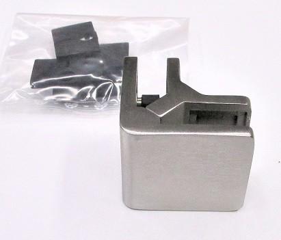 82650 - Eck-Glashalter aus Edelstahl passend zu 45 x 45 x 26 mm, geschliffen K240