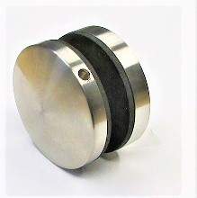 82930 - V2A Punkthalter Ø 50 mm, gewölbter Kopf, für flachen Anschluss