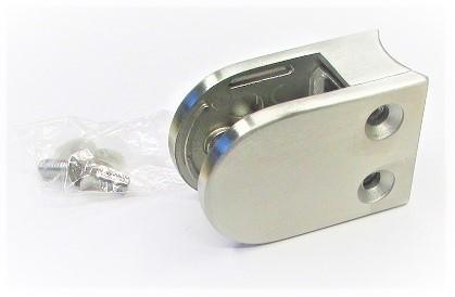 80342 - Edelstahl Glashalter 63x45x30 mm, Anschluss für Rohr Ø 42,4 mm, geschliffen K240