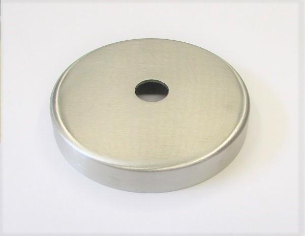 Edelstahl-Rosette Ø 76 x 1,5 mm, gelocht mit Mittelloch Ø 12,5 mm, geschliffen K240