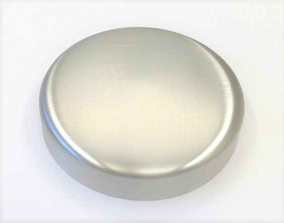 Edelstahl-Rosette Ø 105 x 1,5 mm, ungelocht, geschliffen K240