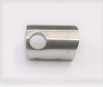 25640 - Querstabhalter aus Edelstahl, geschliffen K240, für Rohranschluss Ø 42,4 mm und Stäbe Ø 10 mm
