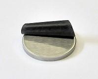 42033 - V4A Ronde Ø 33 x 4 mm, einseitig geschliffen K240 + Schutzfolie