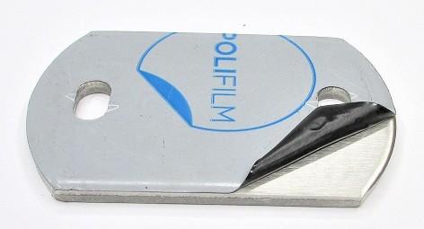 25013 - V2A Ankerplatte 120 x 80 x 6 mm, 2 Langlöcher 11x20mm, geschliffen K240