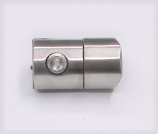 25742 - Blechhalter aus Edelstahl, geschliffen K240, für Rohranschluss Ø 42,4 mm, Klemmstärke 1,5-4,0 mm