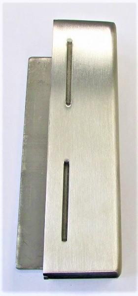 79212- Edelstahl-Gegenkasten, geschliffen K240, 172 x 44 x 30 mm
