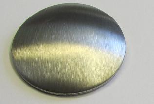 Edelstahl-Schale Ø 33 x 2,0 mm einseitig geschliffen K240