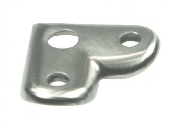 Rohranschlussplatte aus Edelstahl, 90°-Ecke, für Rohranschluss Ø 42,4 mm