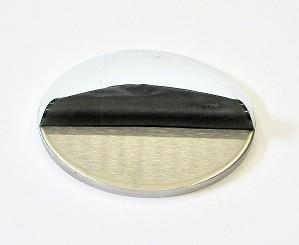 42082 - V4A Ronde Ø 80 x 6 mm, einseitig geschliffen K240 + Schutzfolie