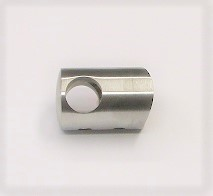 25642 - Querstabhalter aus Edelstahl, geschliffen K240, für Rohranschluss Ø 42,4 mm und Stäbe Ø 12 mm
