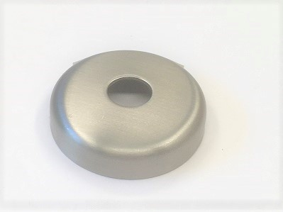 Edelstahl-Rosette Ø 45 x 1,5 mm, gelocht mit Mittelloch Ø 12,5 mm, Ausführung KB, geschliffen K240