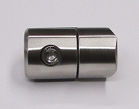 25741 - Blechhalter aus Edelstahl, geschliffen K240, für Rohranschluss Ø 33,7 mm, Klemmstärke 1,5-4,0 mm