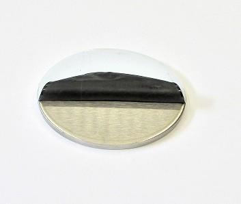 42070 - V4A Ronde Ø 70 x 4 mm, einseitig geschliffen K240 + Schutzfolie