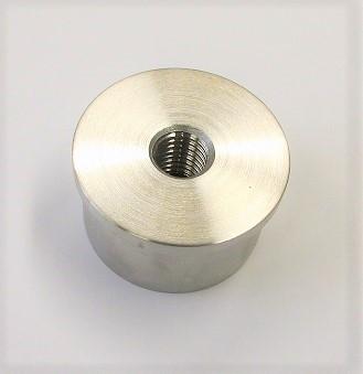 Edelstahl Wandanschluss für Rohr Ø 42,4 x 2 mm, zum Einkleben, mit Gewinde M12