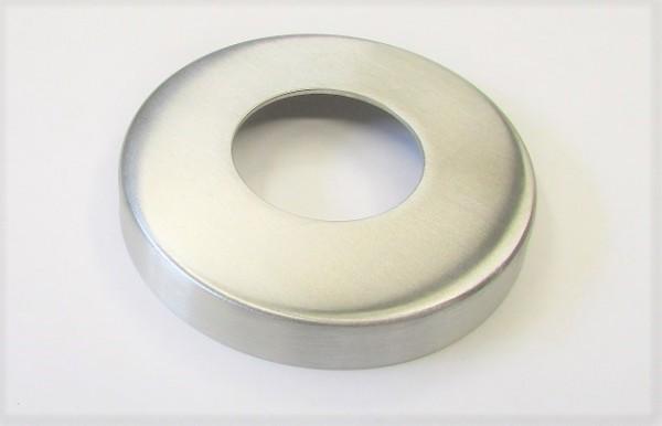Edelstahl-Rosette Ø 76 x 1,5 mm, gelocht mit Mittelloch Ø 34 mm, geschliffen K240