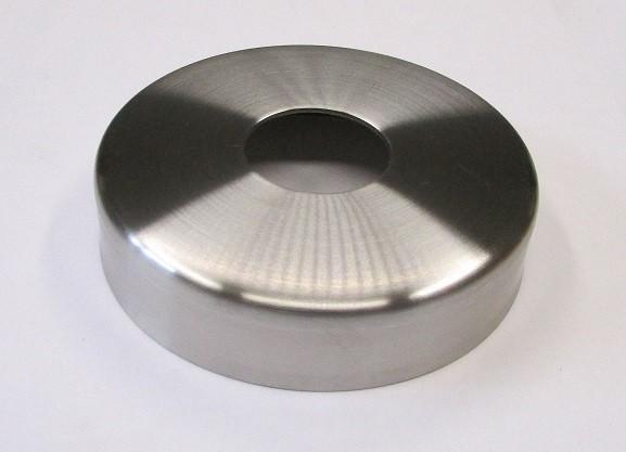 Edelstahlrosette geschliffen K240 Ø 105 mm, H = 25 mm, für Rohr Ø 48,3 mm