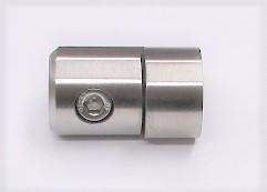 25740 - Blechhalter aus Edelstahl, geschliffen K240, für flachen Rohranschluss, Klemmstärke 1,5-4,0 mm