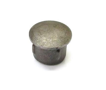 Stahl-Einschlagstopfen flexibel für Rohr Ø 42,4 x 1,8-2,2 mm, gewölbte Ausführung