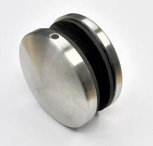 82950 - V2A Punkthalter Ø 70 mm, mit Gewindestift M12, für Glasstärke 11-20 mm