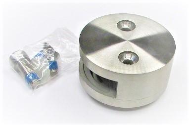 79900 - V2A Glashalter Ø 60 mm, mit einseitiger Öffnung, geschliffen K240, für flachen Anschluss