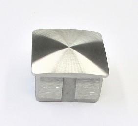78422 - V2A-Stopfen für Rohr 40x40x2 mm, gewölbt