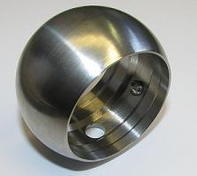 Edelstahl Kugelring zum Durchstecken von Handlaufrohr Ø 42,4 mm