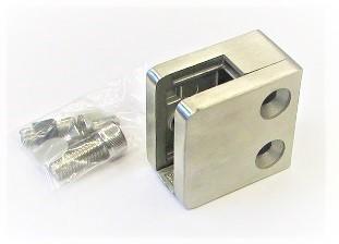 82400 -Glashalter aus Edelstahl 45 x 45 x 26 mm, geschliffen K240