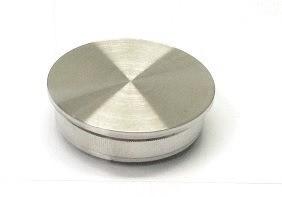 Edelstahl-Einschlagstopfen hohl für Rohr Ø 33,7 x 2 mm, flache Ausführung