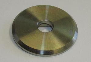 Edelstahl-Ronde Ø 45 x 4 mm, ML Ø 10,5 mm, mit Fase, fein geschlichtet