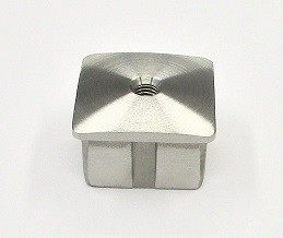 78423 - V2A-Stopfen für Rohr 40x40x2 mm, gewölbt, mit M8