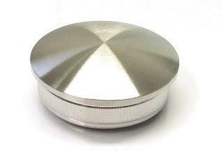 Edelstahl-Hohlkappe für Rohr Ø 42,4 x 2,0 mm, gewölbte Ausführung