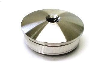 Edelstahl-Hohlkappe für Rohr Ø 33,7 x 2,0 mm, Bohrung M8, gewölbte Ausführung